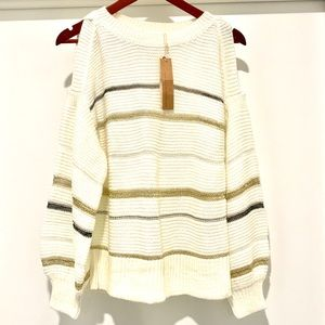 Mustard Seed New Moon Cold Shoulder Sweater NWT-S